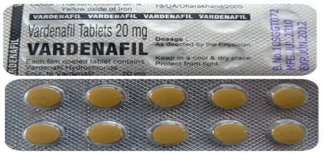 دواعي استعمال حبوب فاردينافيل Vardenafil والآثار الجانبية